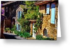 Old Provencal Village Street Greeting Card