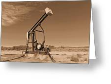 Old Pumpjack  Artesia New Mexico Greeting Card