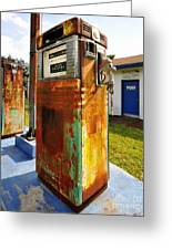 Old Pumps At Pinecrest Greeting Card