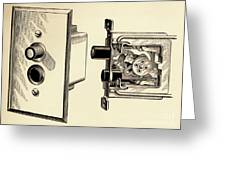 Old Push Button Light Switch Greeting Card