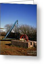 Old Quarry Machinery Winter Day Tegg's Nose Country Park Macclesfield Cheshire England Greeting Card