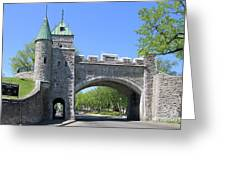 Old Quebec City Wall Quebec City 6358 Greeting Card