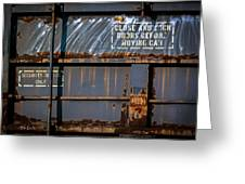 Old Railroad Boxcar  Greeting Card