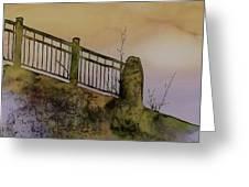 Old Railroad Bridge II Greeting Card