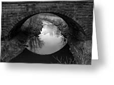 Old Railroad Bridge Greeting Card