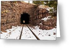 Old Railroad Tunnel Greeting Card