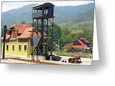 Old Railway Station On Mountain Greeting Card