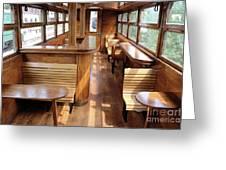 Old Railway Wagon Interior Vintage Greeting Card