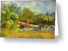 Old Ranch In Costa Rica Greeting Card