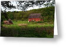 Old Red Barn 2 Greeting Card