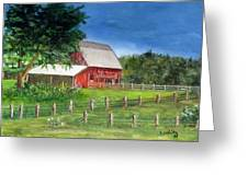 Old Red Barn Greeting Card