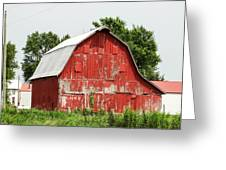 Old Red Barn Johnson County Ia Greeting Card