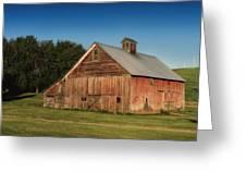 Old Red Barn Palouse Wa Dsc05067 Greeting Card