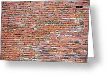 Old Red Brick Wall Greeting Card