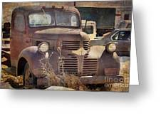 Old Red Dodge Truck Greeting Card
