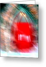 Old Red Door Abstract Greeting Card