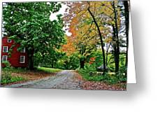 Old Red House Greeting Card