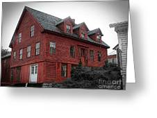 Old Red House In Shelburne Falls Greeting Card
