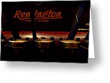 Old Remington Cash Register Greeting Card