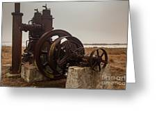 Old Rice Well Pump Greeting Card