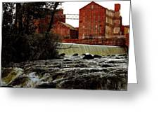 Old River Dam In Columbus Georgia Greeting Card