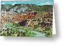 Old Roads To Chama Greeting Card