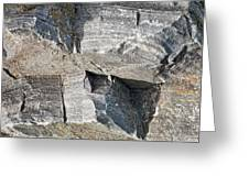 Old Rock Background Greeting Card