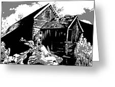 Old Rocky Mill Greeting Card by Deleas Kilgore
