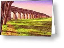 Old Roman Aqueduct Greeting Card