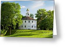 Old Round Church Spring Greeting Card