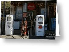 Old Route 66 Gas Station Greeting Card