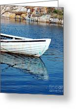 Old Row Boat Greeting Card