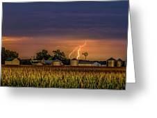 Old Rte 66 Lightning 8 48 16 P Greeting Card