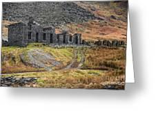 Old Ruin At Cwmorthin Greeting Card