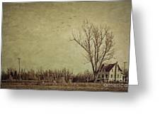 Old Rural Farmhouse With Grunge Feeling Greeting Card
