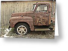 Old Rust Truck Greeting Card