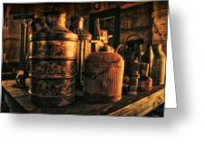 Old Rustic Cans Greeting Card