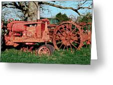 Old Rusty Tractors Greeting Card