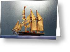 Old Sailing Ship Greeting Card