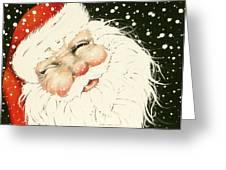 Old Saint Nick Greeting Card by Paula Weber