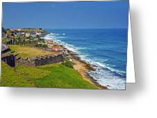 Old San Juan Coastline Greeting Card by Stephen Anderson