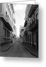 Old San Juan Puerto Rico Downtown On The Street Greeting Card