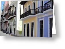 Old San Juan Puerto Rico Downtown  Greeting Card