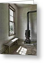 Old School House Stove Greeting Card