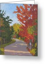 Old Scoolhouse Road Fall - Art By Bill Tomsa Greeting Card