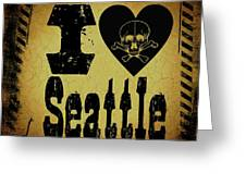 Old Seattle Greeting Card