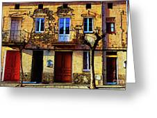 Old Semidetached Houses Greeting Card