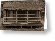 Old Shack In Sepia Greeting Card