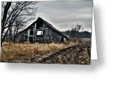 Old Shed Left By Itself Greeting Card by Laurie With
