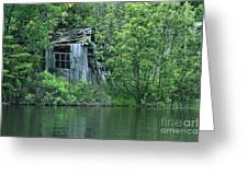 Old Shed On The Lake Greeting Card by Marjorie Imbeau